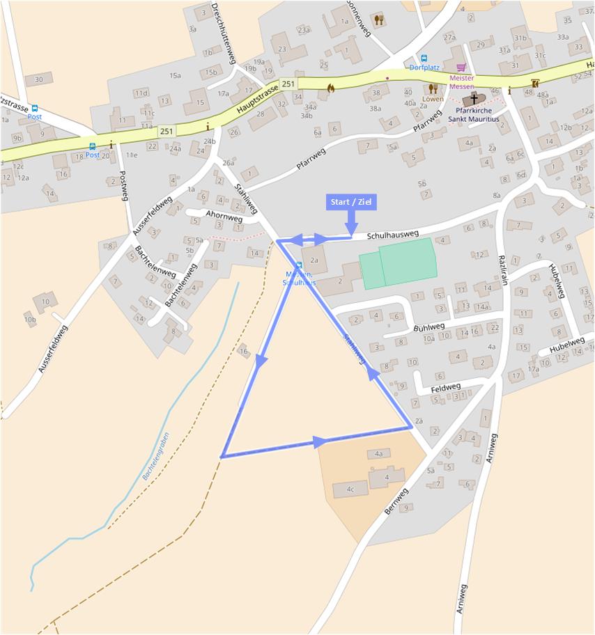 Laufstrecke 0.8 km