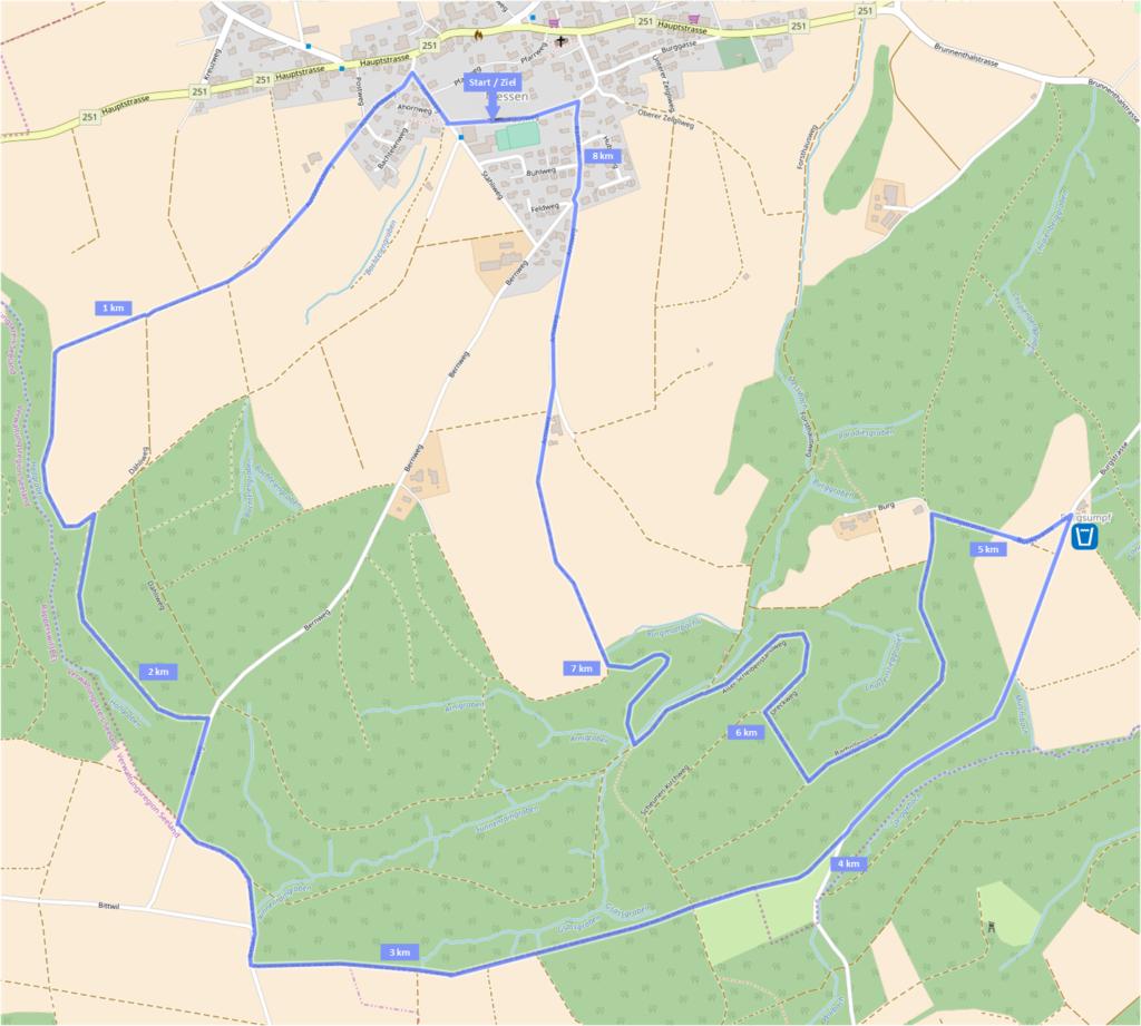 Laufstrecke 8.3 km